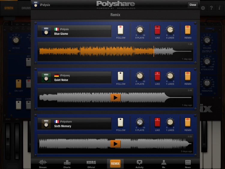 KORG iPolysix for iPad screenshot-3