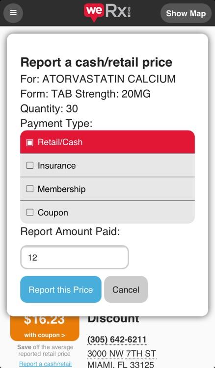 WeRx: Prescription Medication Price Transparency & Savings screenshot-4