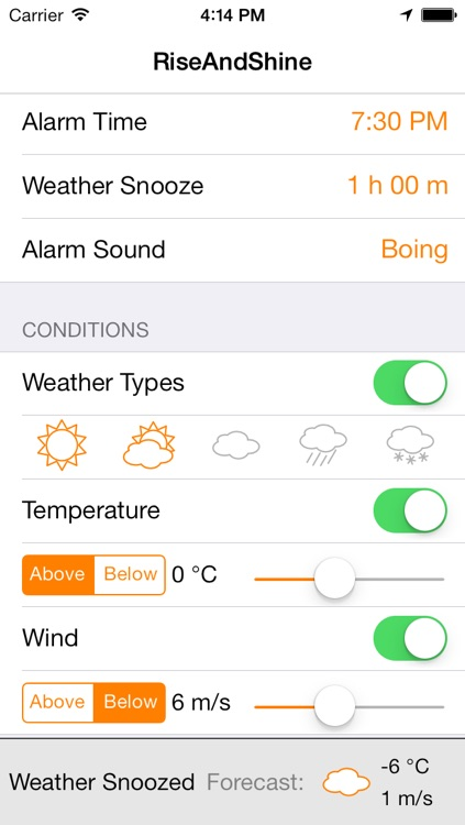 RiseAndShine - Weather Alarm Clock screenshot-3