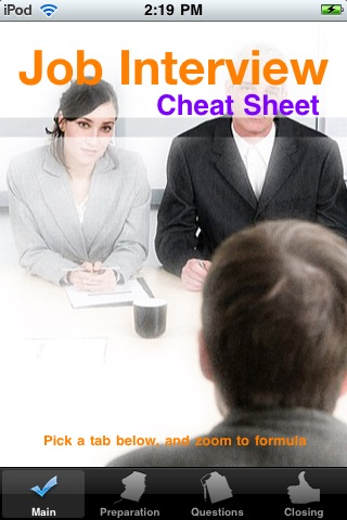Job Interview Cheat Sheet