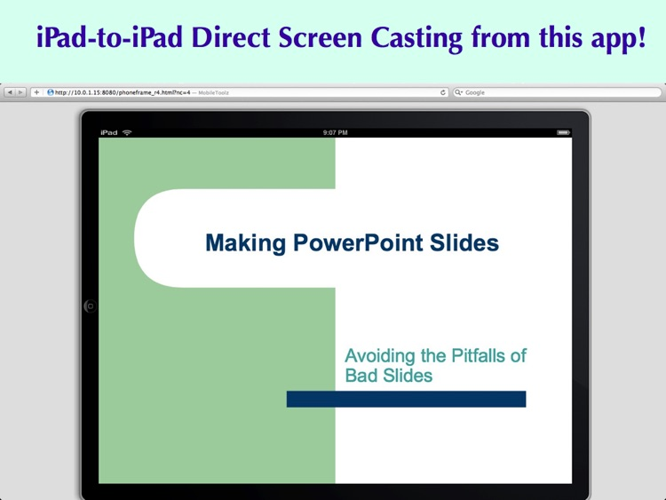 Mobile Presenter Pro - Wireless Screen Sharing and Projection for iPad screenshot-2