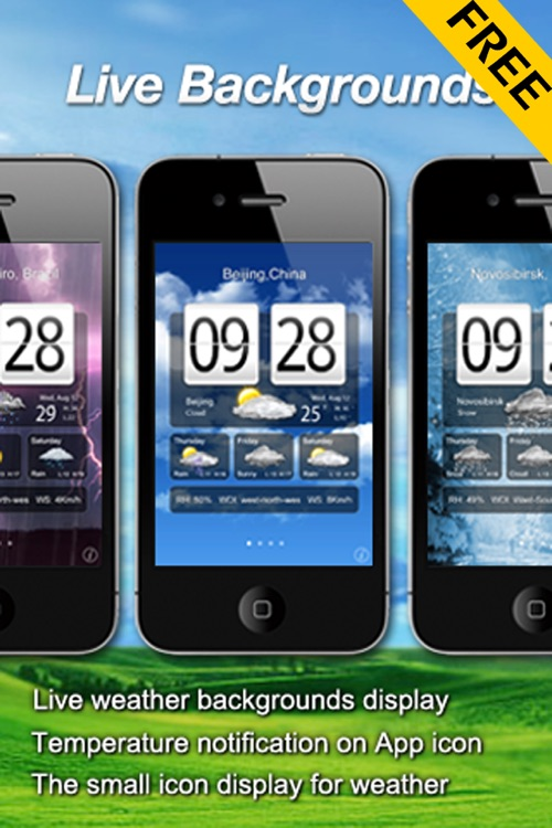 Free Live Weather Clock