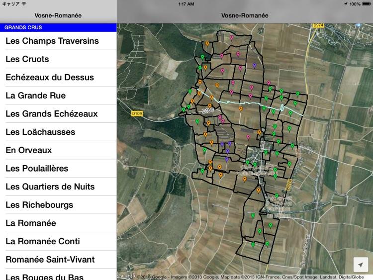 Vosne Romanee Wine Map By Virtus Ltd