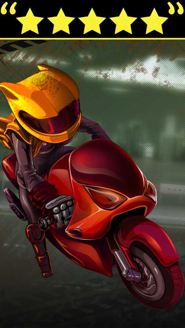 Das Speed-Bike Motorradrennen Spiel kostenlosScreenshot von 1