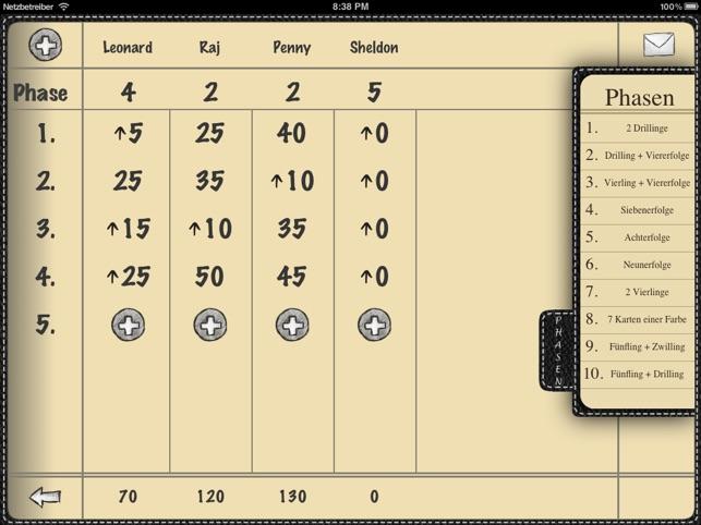 Scoreboard im app store for Yahtzee tabelle