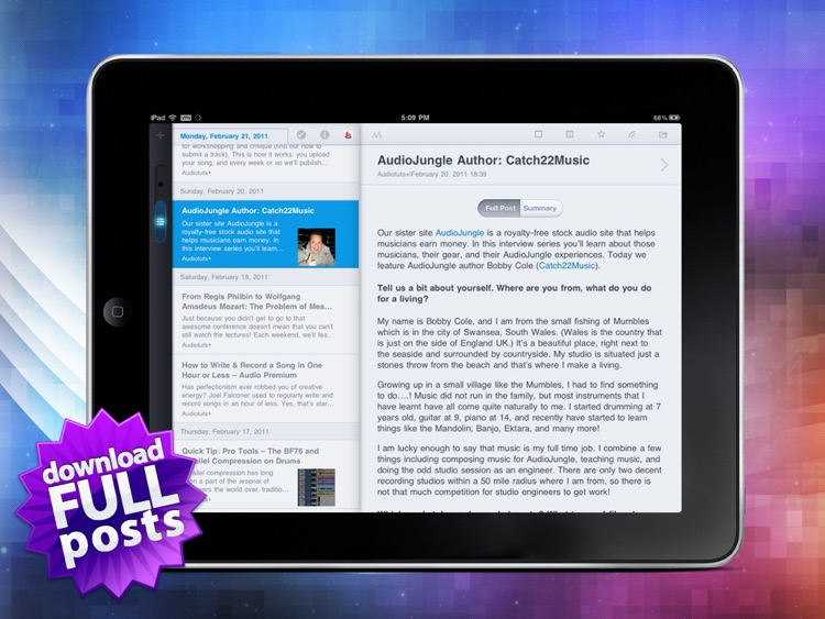 MobileRSS HD FREE ~ Google RSS News Reader screenshot-3