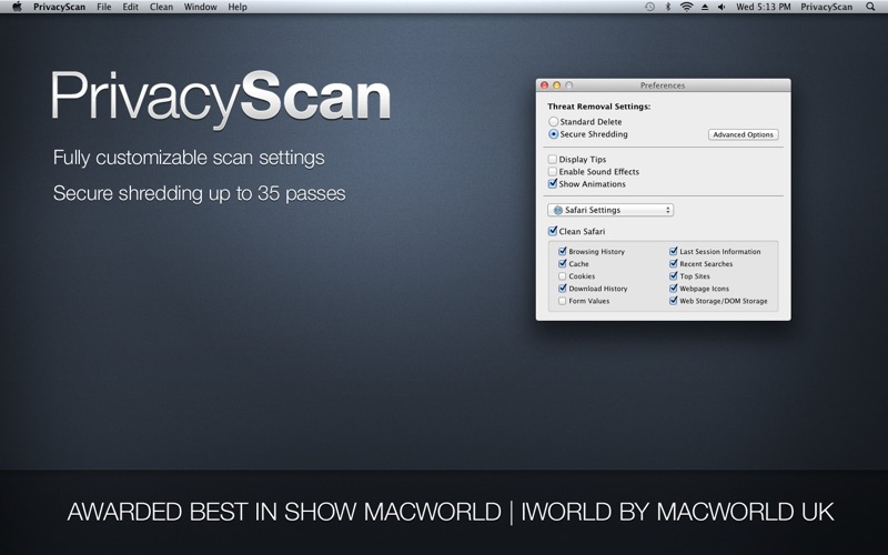PrivacyScan Screenshots