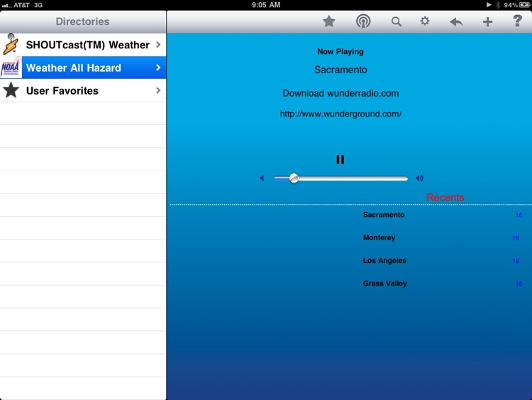 Weather Radio - iPad Edition screenshot-1