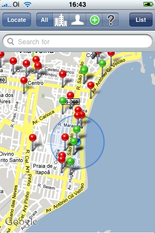 dPlaces (see contacts close to - next to you/me all at once on map)