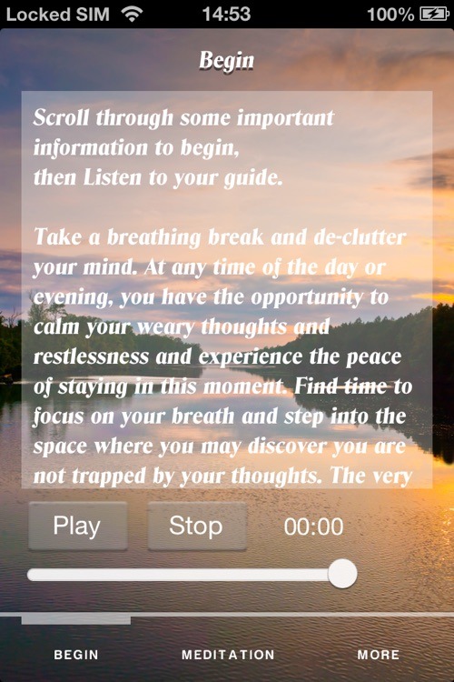 Room to Breathe Meditation
