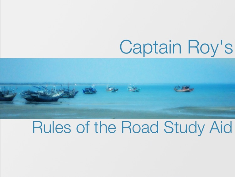 Captain Roy's Rules of the Road Study Aid screenshot-0