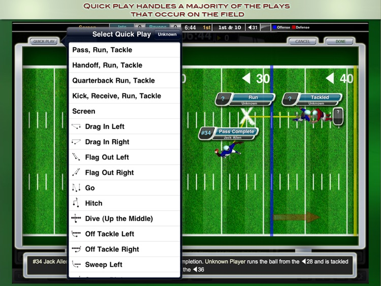 iScore Football Scorekeeper for iPad
