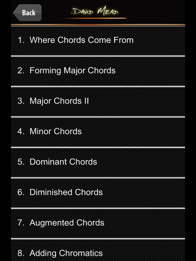 David Mead Chord Coach On The App Store