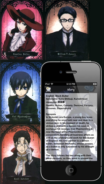 Kuroshitsuji Wallbook Anime screenshot-4