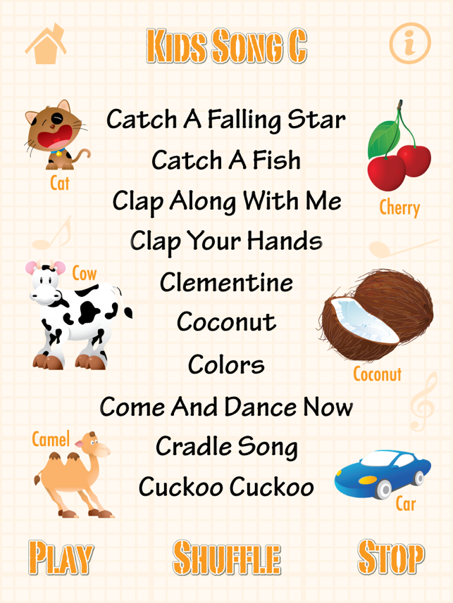 Kids Song C for iPad - Babies Learn English Words   Child English ... d7e5a91741a