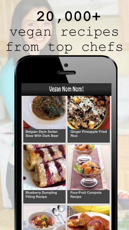 Vegan Nom Nom: Free Fast Delish Healthy Plant Based Diet & Dinner Recipes by YumDom for your cooking lifestyle