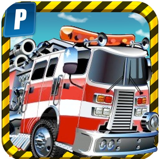 A Fire Truck Parking Simulator - Free Realistic Trucks Driving Test Game