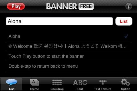 Banner - Free Version