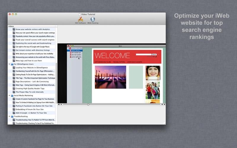 SEO Video Tutorial for iWeb Screenshot