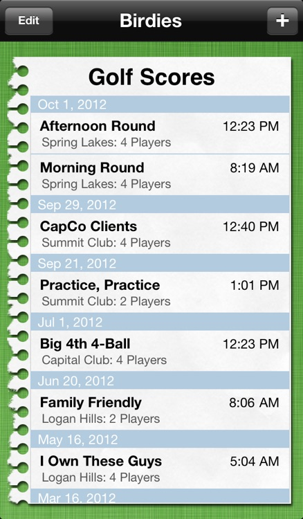 Birdies: Golf Scorecard screenshot-0