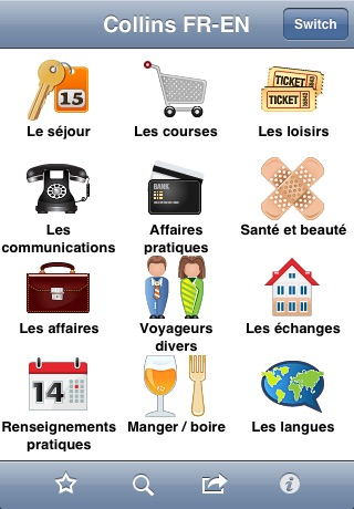 Collins English<->French Phrasebook & Dictionary with Audio