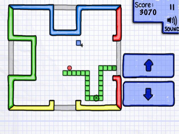 Glow Doodle Snake HD screenshot-3