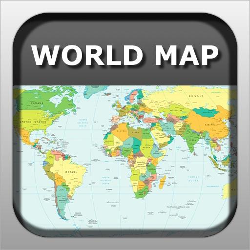 A World Map - Pocket Political World Map