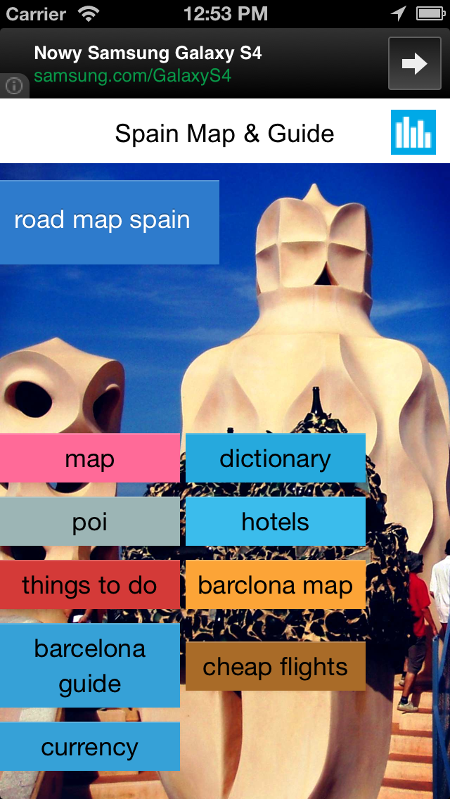 Spain offline road map & POI. Free edition with Barcelona