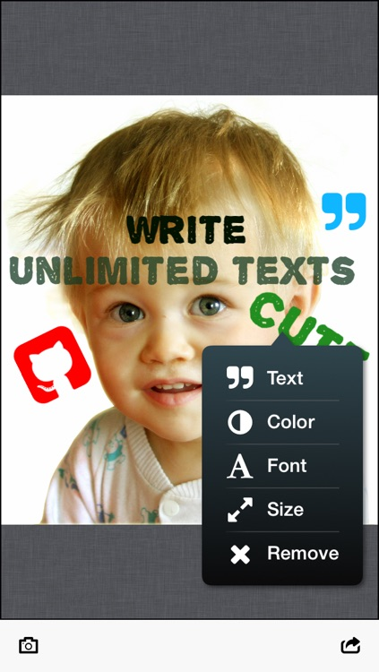 ShotText: Text on Photo, add text, emoji and shapes to your photos, share on Instagram, Facebook, Twitter