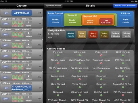 Screenshot #6 pour Système à Enseigner ARDrone: Analyser la communication