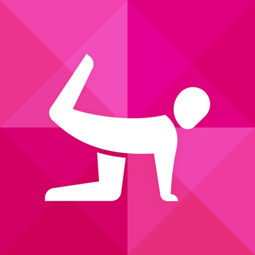 Instant Butt Trainer : 100+ butt exercises and workouts for free,  quick mobile personal trainer, on-the-go, home, office, travel powered by Fitness Buddy and Instant Heart Rate icon