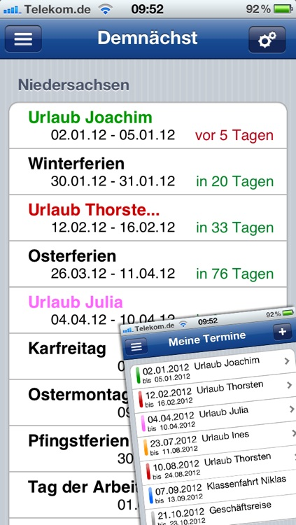 Ferien-Kalender screenshot-1
