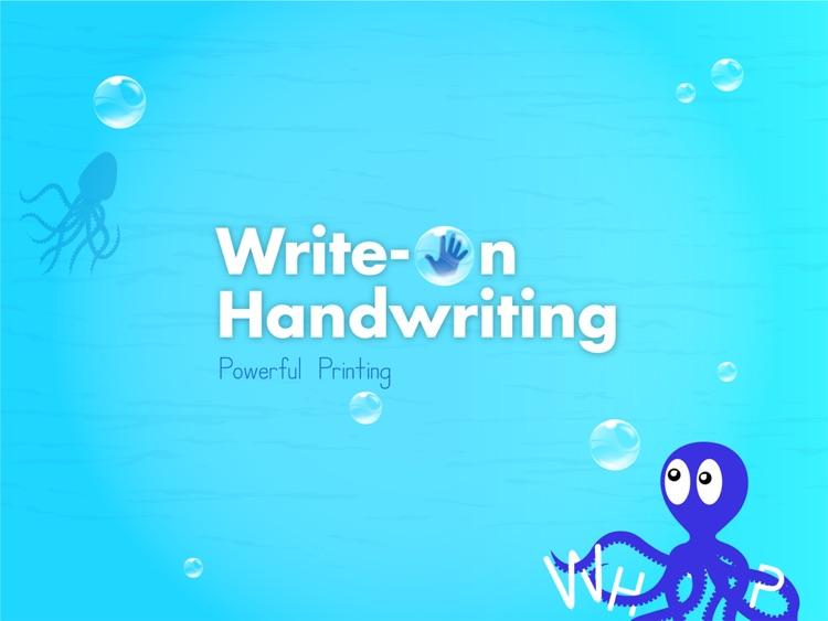 Write On Handwriting: Powerful Printing Letters & Numbers screenshot-4
