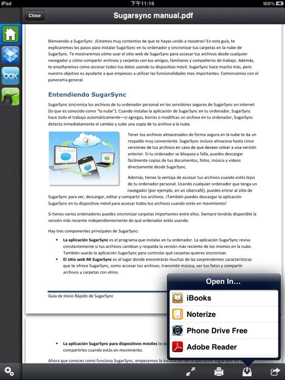 Cloud Console - Accessing files in cloud storage screenshot-4