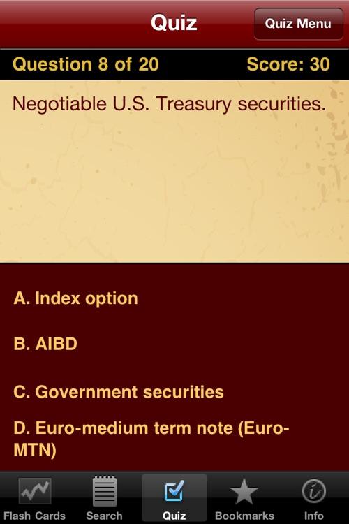 Financial Terms, Flashcards, & Quiz screenshot-3