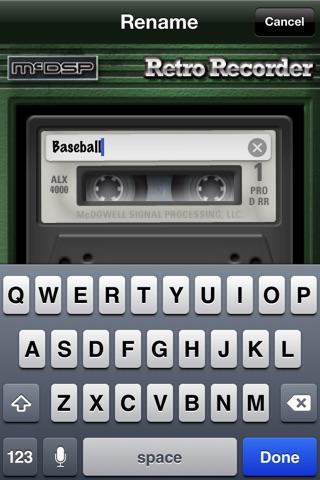 Screenshot of Retro Recorder