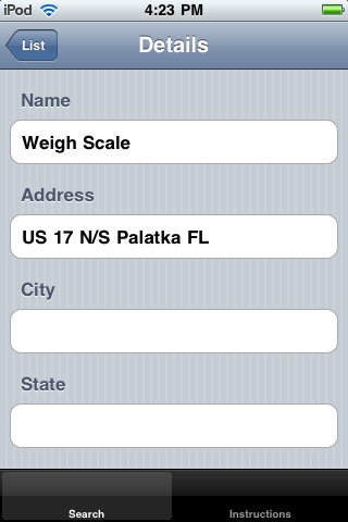 Weigh Scale Locator