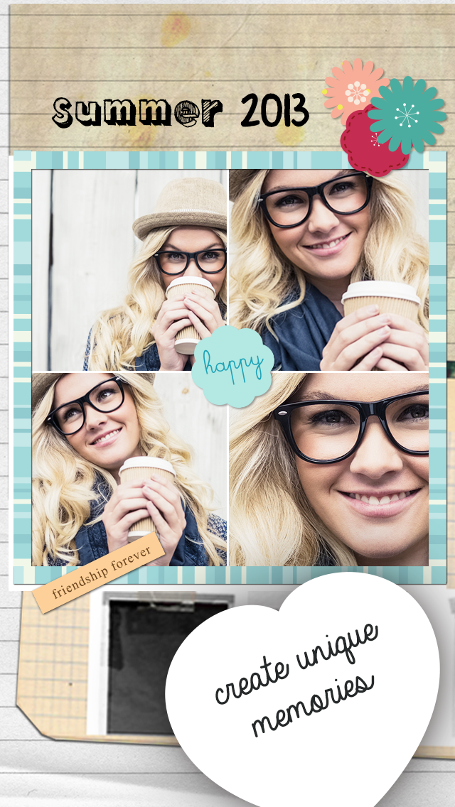 Cream & Sugar Hipster photo collages editor for a Tumblr tbh pic Screenshot
