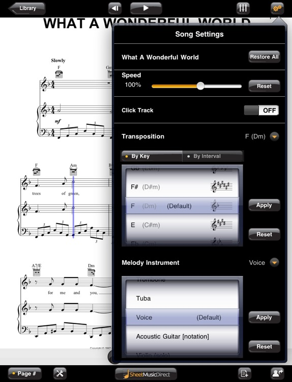 Sheet Music Direct for iPad