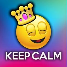 Emoji Keep Calm Funny Poster Creator
