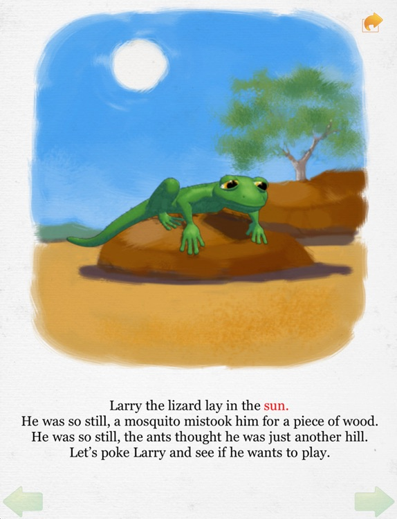 Lazy Larry Lizard bedtime story book for preschoolers - Wasabi Productions screenshot-1