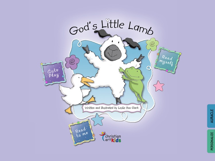 "God's Little Lamb : teach your children about God's love for them in this Christian book for kids by Leslie Ann Clark (""Lite"" version by Auryn Apps)"