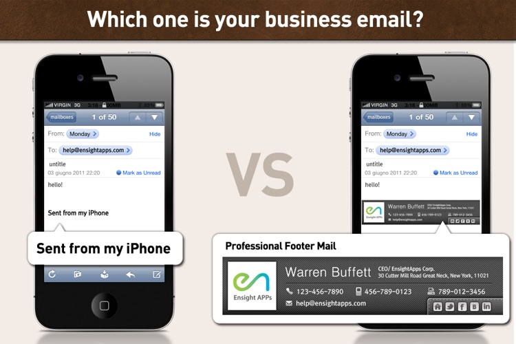 Mail Footer for Business