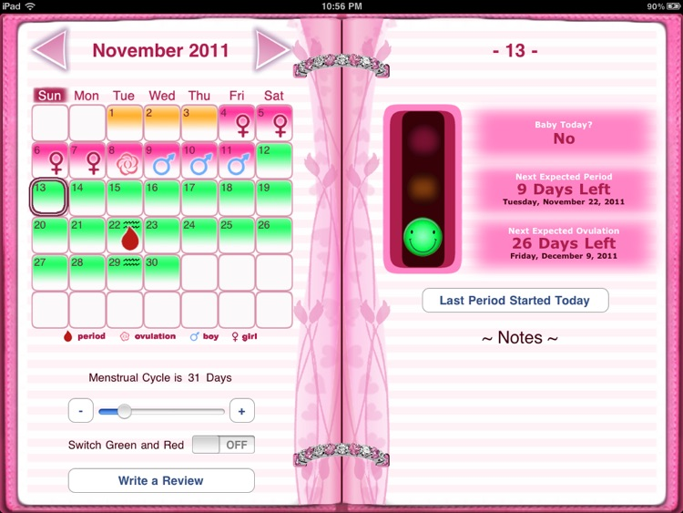 Maybe Baby 2016 for iPad - Fertility / Ovulation Diary, Period Tracker, Menstrual Calendar, Pregnancy & Gender Predictor