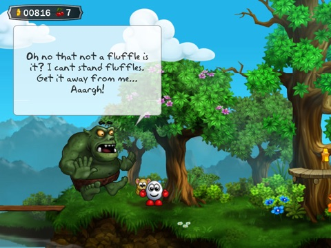Screenshot #3 for Dizzy - Prince of the Yolkfolk for iPad