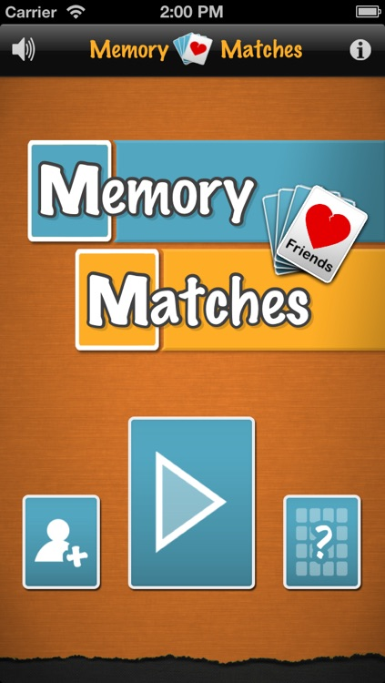 Memory Matches Friends