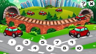 市の自動車について子供の年齢2-5のための123のゲーム: カウントを学ぶ 数字カー、レースカー、バス、トラック、飛行機、通りに1月10日。幼稚園、保育園や保育所のためにのスクリーンショット1
