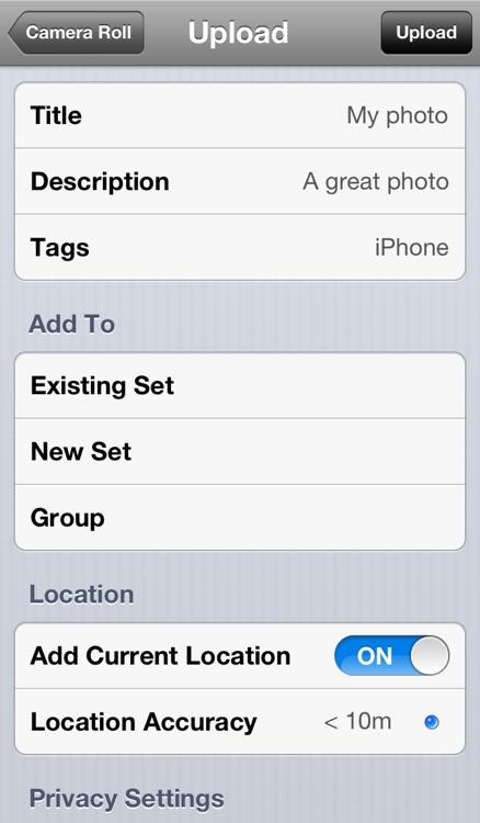 Mobile Fotos • Flickr Browser & Uploader screenshot-4