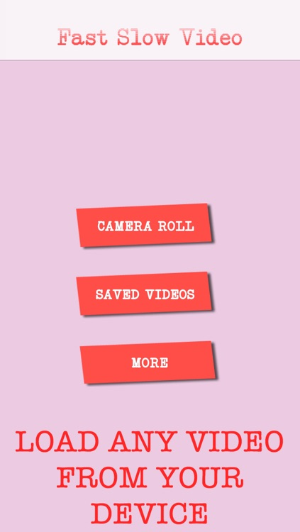 Fast Slow Video Creator - Make slow motion and fast videos FREE