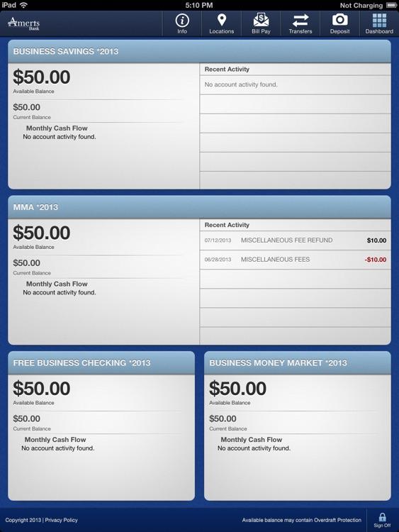 Ameris Bank Business for iPad